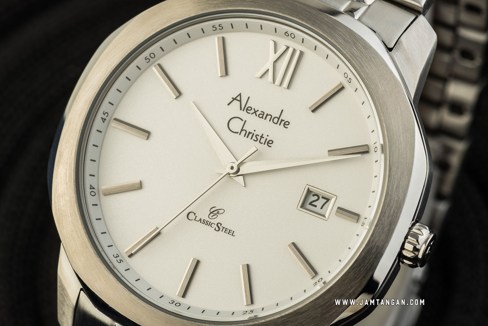 Alexandre Christie AC 8619 MD BSSSL Classic Steel Men Silver Dial Stainless Steel Strap Machtwatch