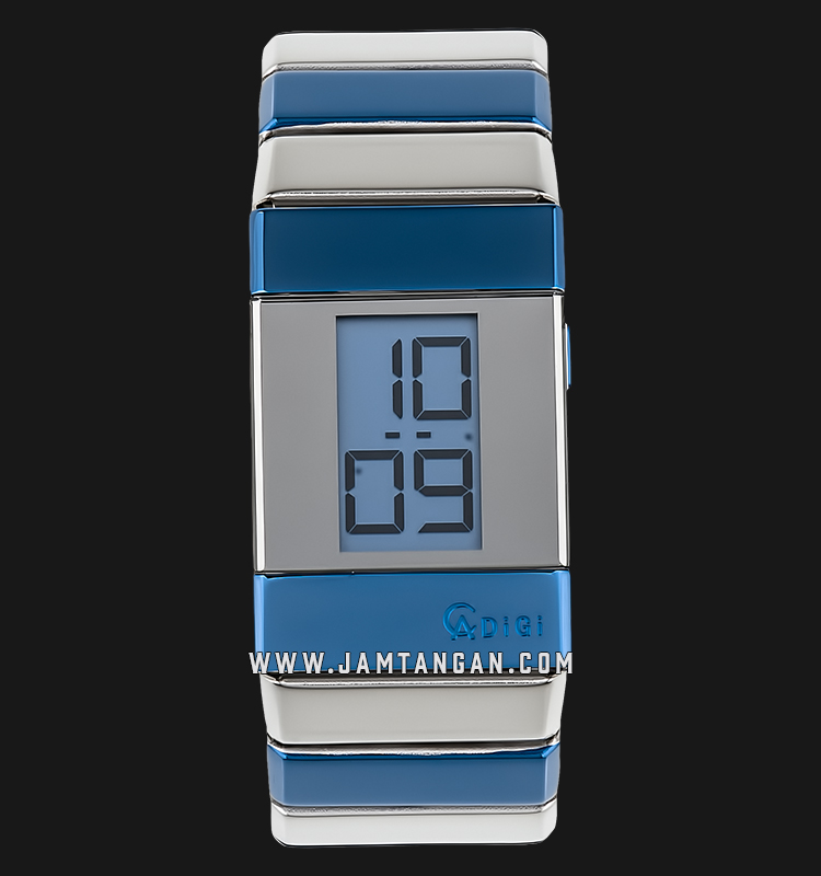 Alexandre Christie AC 9100 LH BTUBU Unisex Digital Blue Dial Stainless Steel Machtwatch