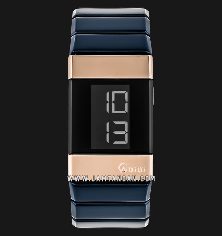 Alexandre Christie AC 9100 LH BURBA Unisex Digital Black Dial Blue Stainless Steel Machtwatch