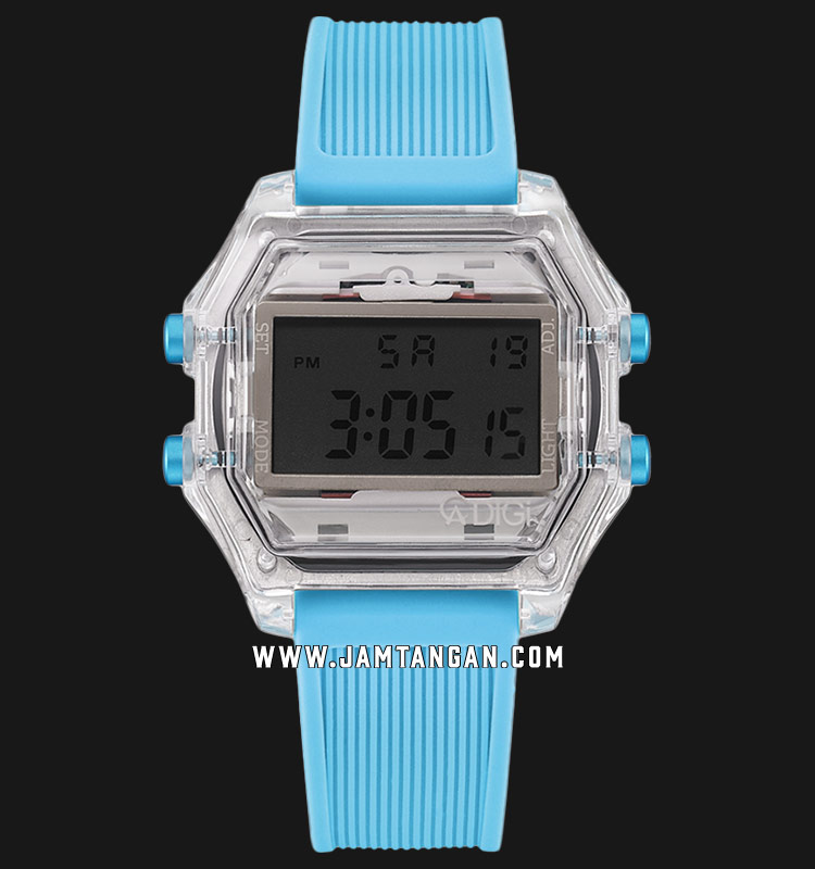 Alexandre Christie AC 9224 ME RSSBA Digital Dial Turquoise Rubber Strap Machtwatch