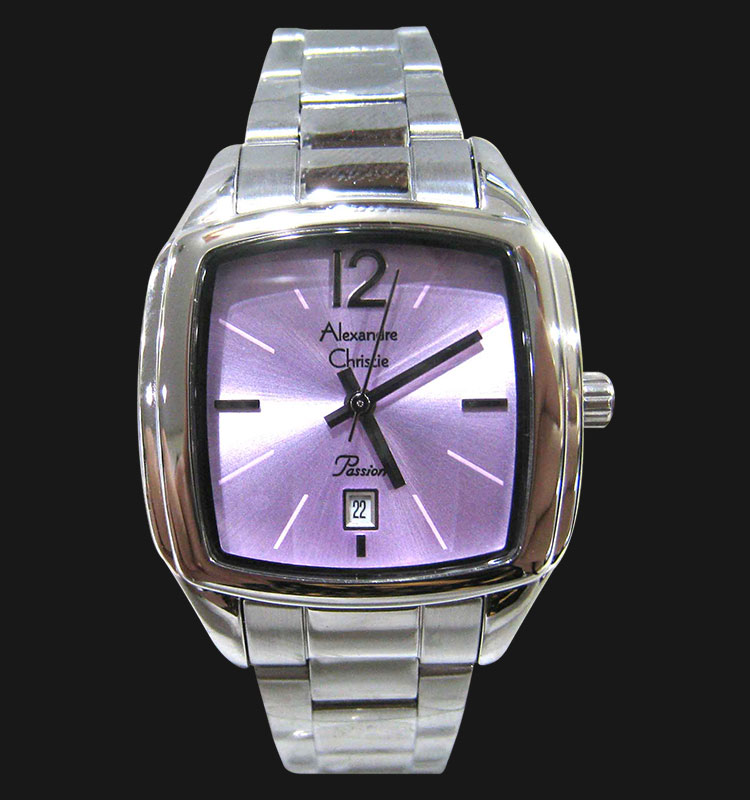 Alexandre Christie AC 2454 LDBSSPU Purple Dial Stainless Steel Strap Machtwatch