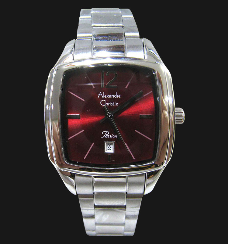 Alexandre Christie AC 2454 LDBSSRE Red Dial Stainless Steel Strap Machtwatch