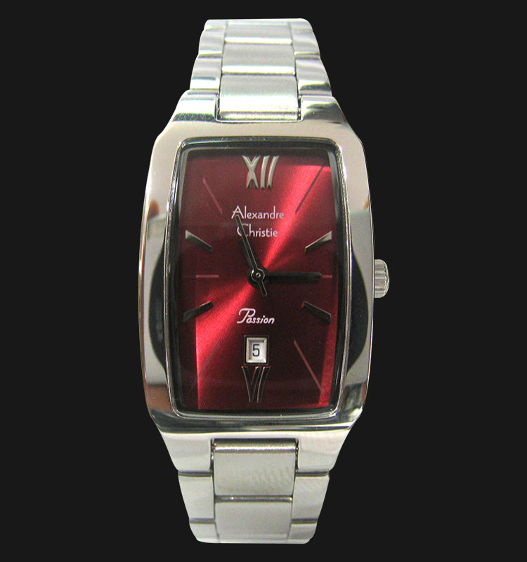 Alexandre Christie AC 2455 LDBSSRE Red Dial Stainless Steel Strap Machtwatch
