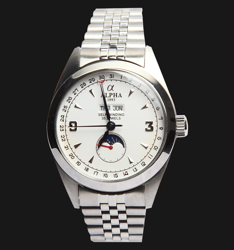 Alpha Triple Date White NT506-R13-WH Machtwatch