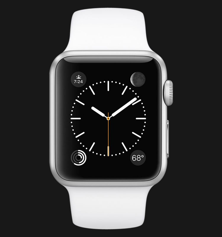 Apple Watch 38mm Silver Aluminum Case with White Sport Band - MJ2T2ZP/A Machtwatch
