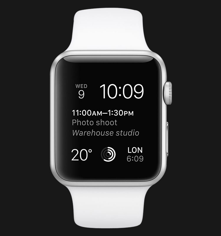 Apple Watch 42mm Silver Aluminum Case with White Sport Band - MJ3N2ZP/A Machtwatch