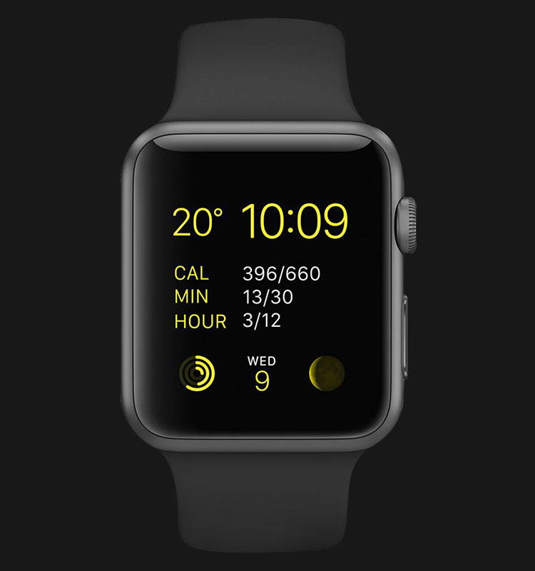 Apple Watch 42mm Space Gray Aluminum Case with Black Sport Band - MJ3T2ZP/A Machtwatch