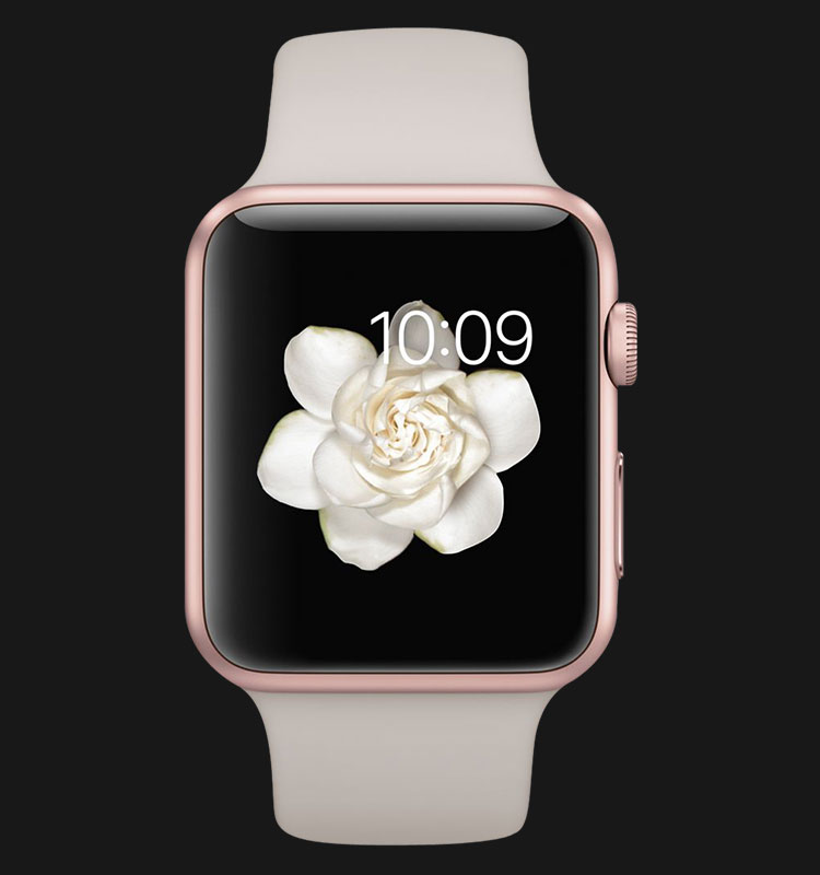 Apple Watch 42mm Rose Gold Aluminum Case with Stone Sport Band - MLC62ZP/A Machtwatch