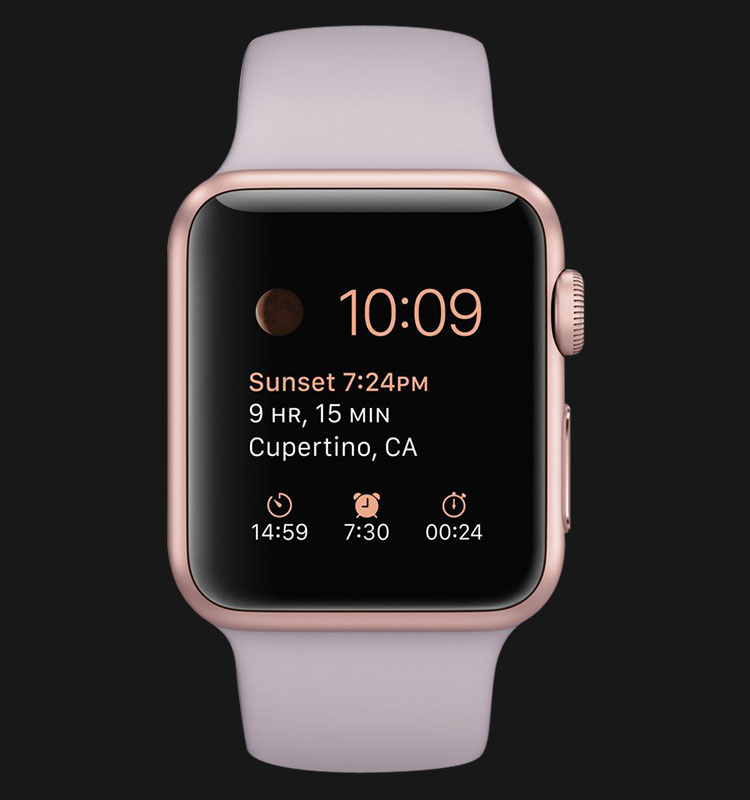 Apple Watch 38mm Rose Gold Aluminum Case with Lavender Sport Band - MLCH2ZP/A Machtwatch