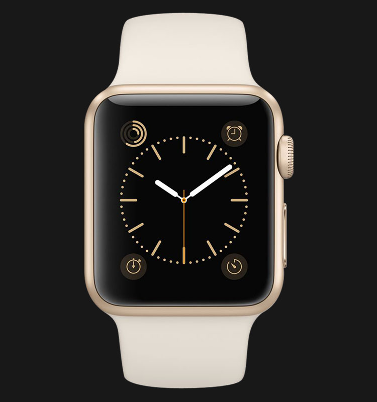 Apple Watch 38mm Gold Aluminum Case with Antique White Sport Band - MLCJ2ZP/A Machtwatch