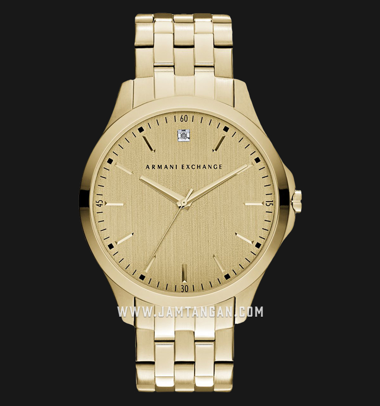 Armani Exchange AX2167 Men Gold Dial Gold Stainless Steel Strap Machtwatch