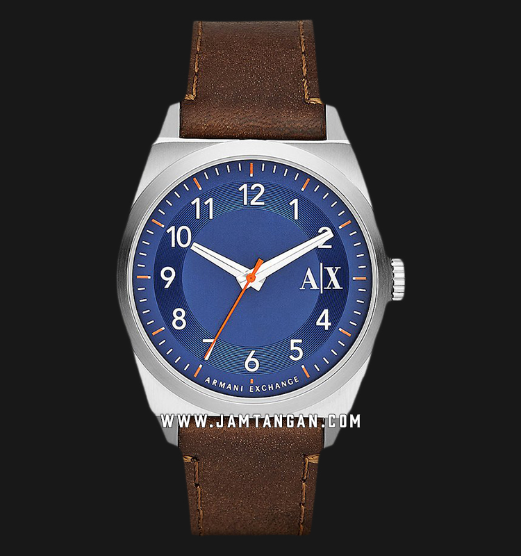 Armani Exchange AX2303 Blue Dial Brown Leather Strap Machtwatch