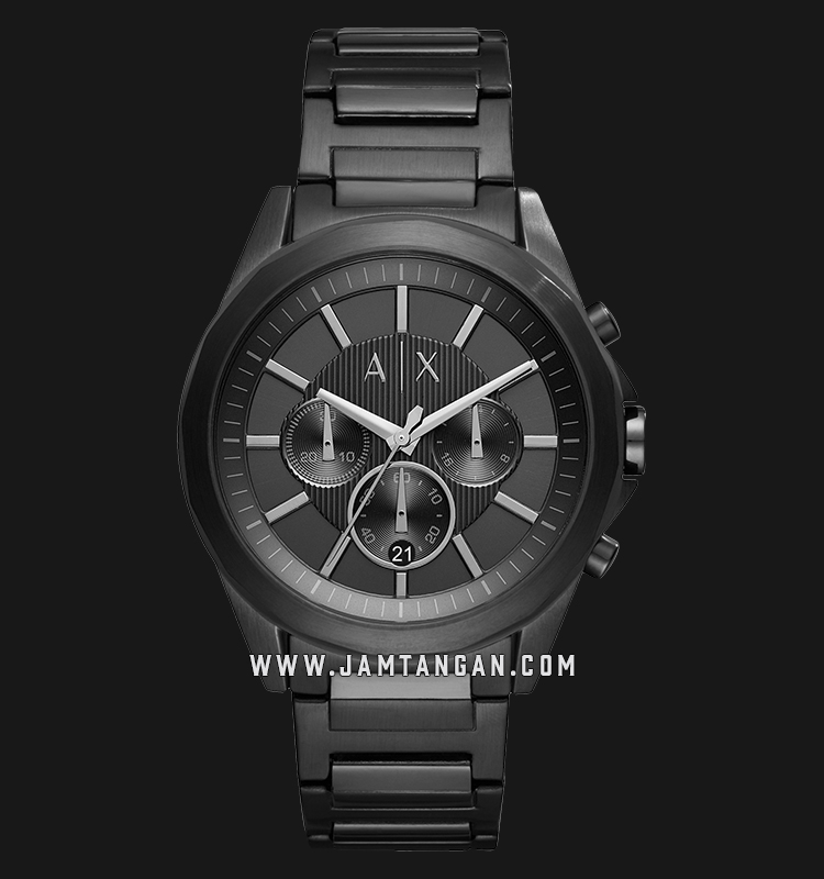 Armani Exchange Chronograph AX2601 Black Dial Black Stainless Steel Strap Machtwatch