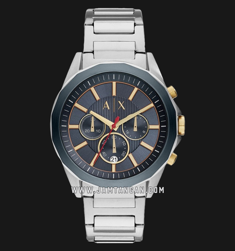 Armani Exchange Chronograph AX2614 Blue Dial Stainless Steel Strap Machtwatch