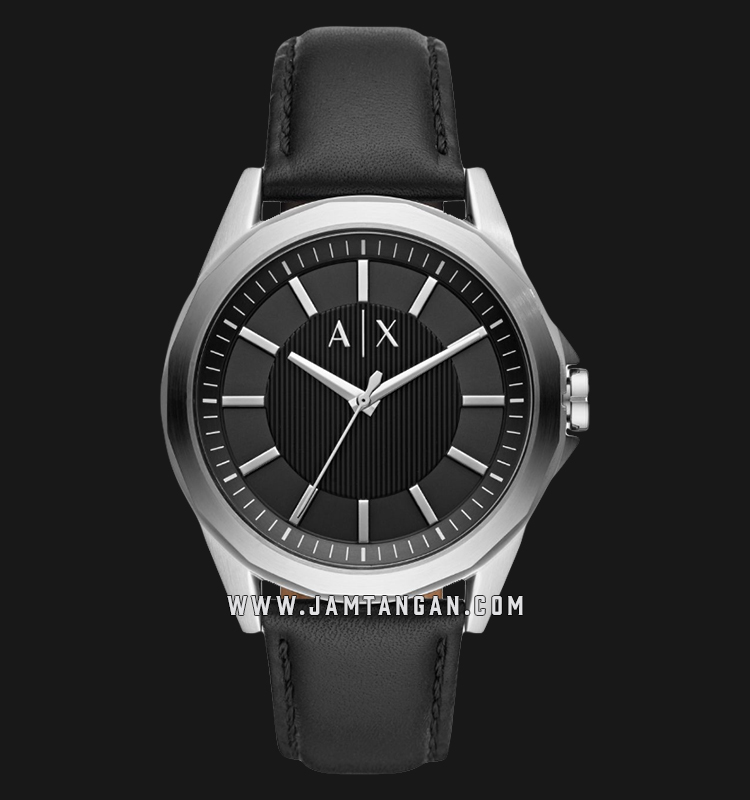 Armani Exchange Drexler AX2621 Black Dial Black Leather Strap Machtwatch