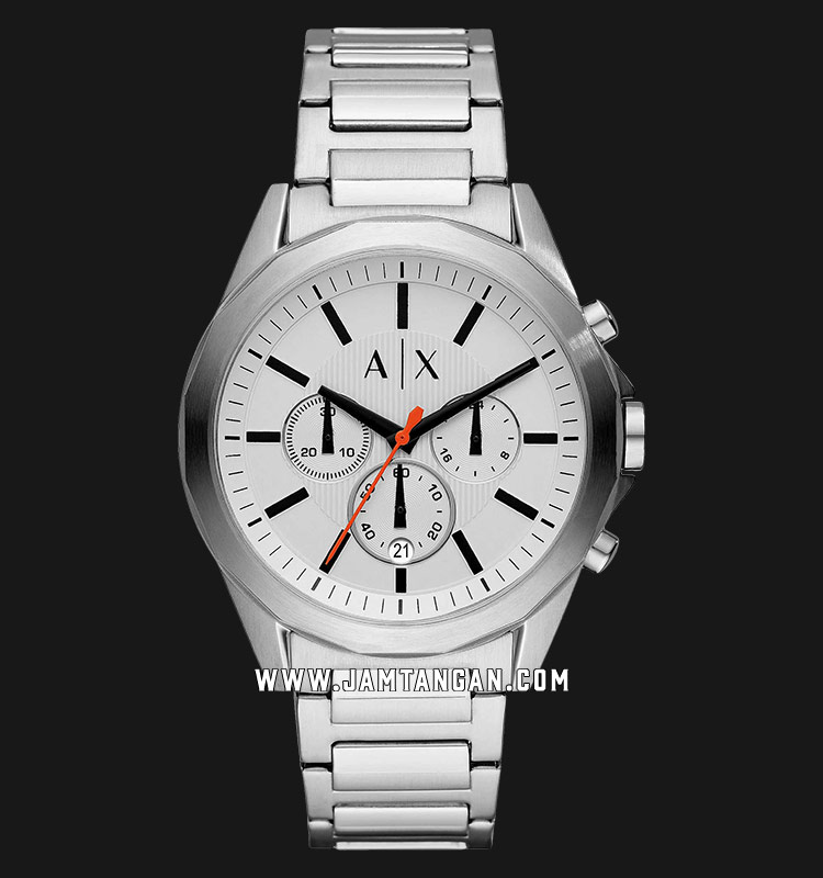 Armani Exchange AX2624 Chronograph Men White Dial Stainless Steel Strap Machtwatch
