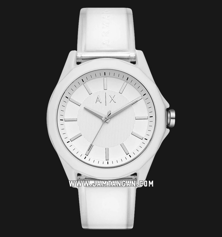 Armani Exchange AX2630 Men White Dial White Rubber Strap Machtwatch