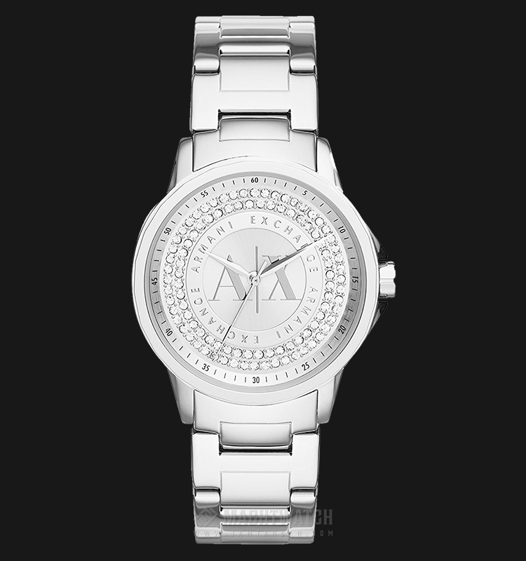 Armani Exchange AX4320 Ladies Silver Dial Stainless Steel Watch Machtwatch