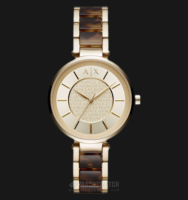 Armani Exchange AX5320 Ladies Street Gold-tone Dial Stainless Steel Machtwatch