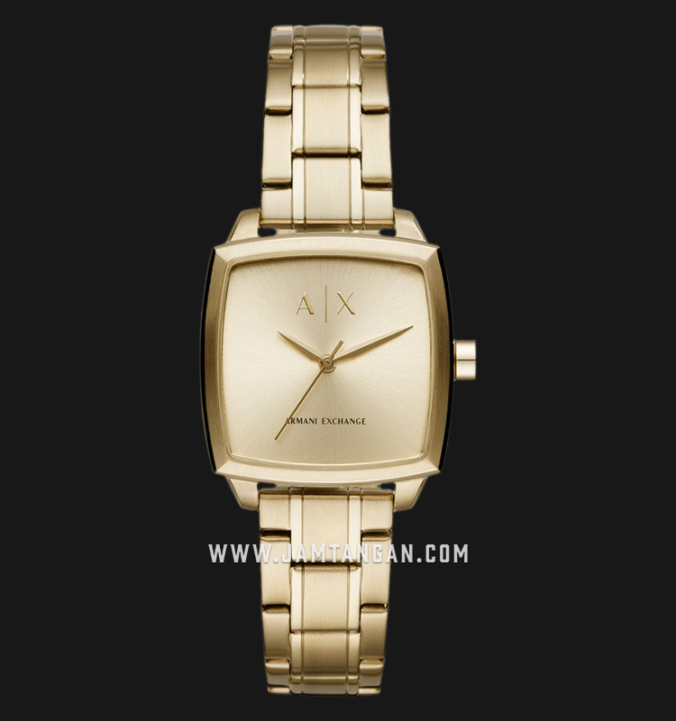 Armani Exchange AX5452 Ladies Gold Dial Gold Stainless Steel Strap Machtwatch