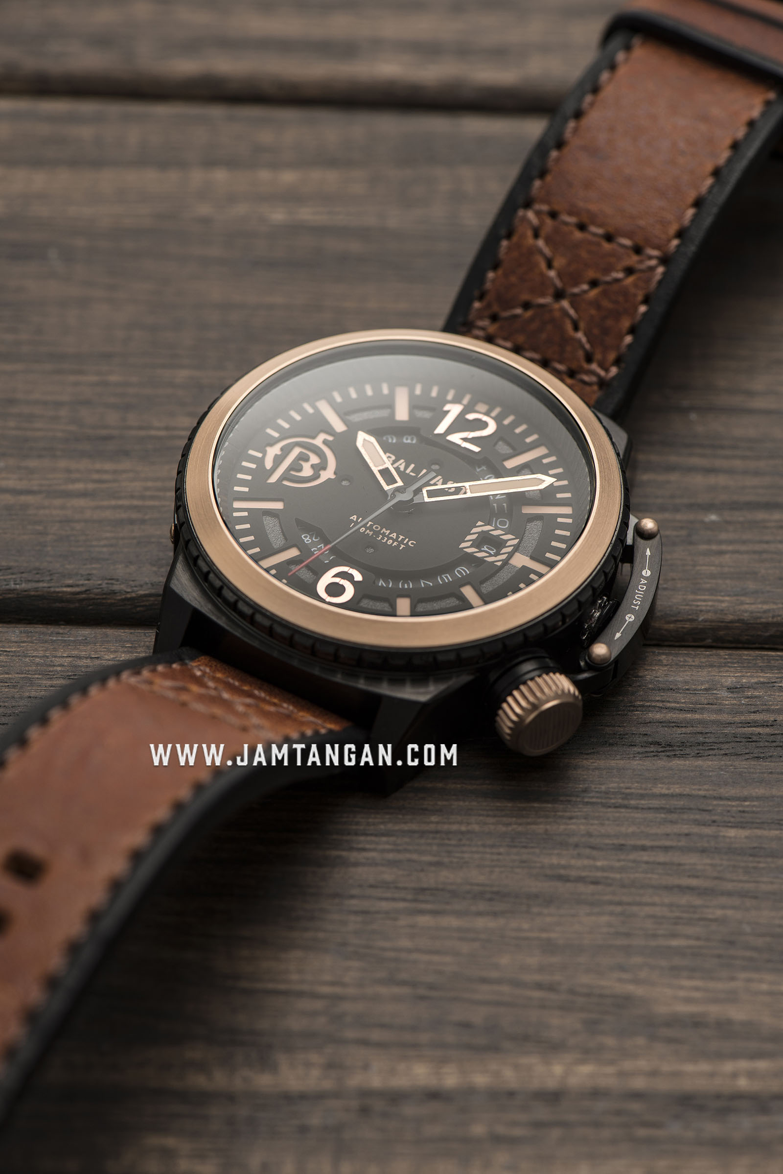 Ballast BL-3133-03 Trafalgar Automatic Men Black Dial Brown Leather Strap Machtwatch