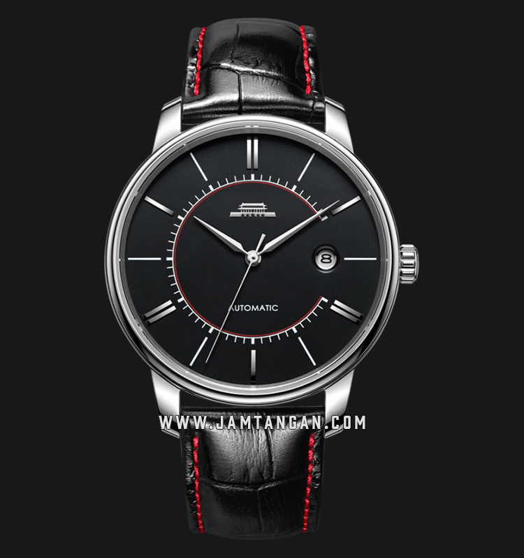 Beijing BG030005 Beihai Man Black Dial Black Leather Strap Machtwatch