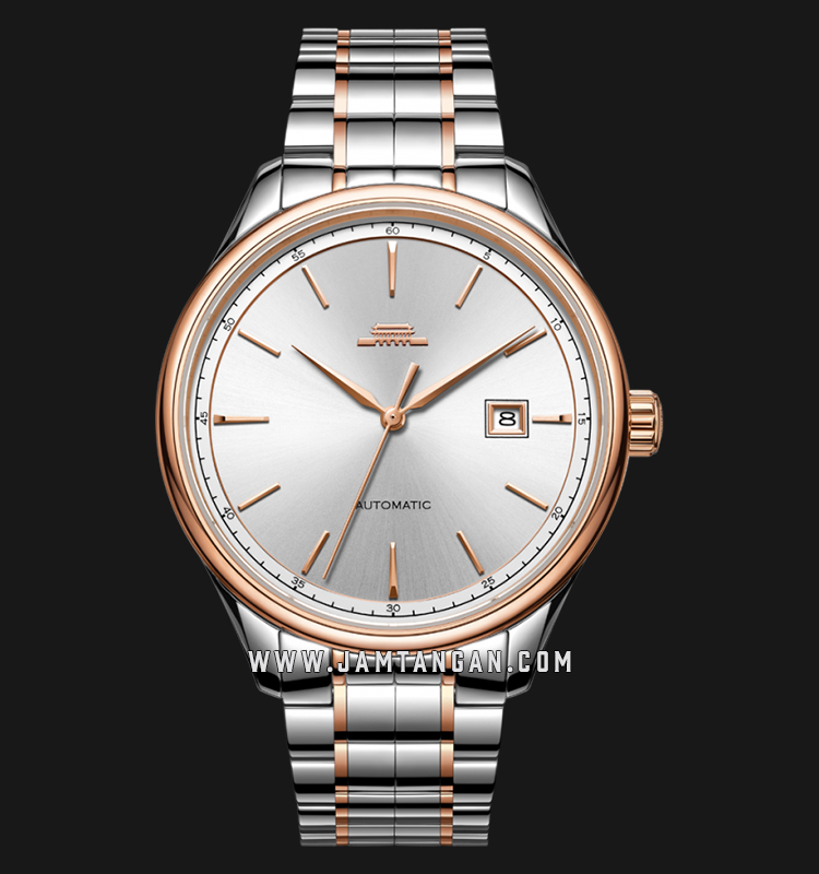 Beijing BG050003 Classic Man Silver Dial Dual Tone Stainless Steel Machtwatch