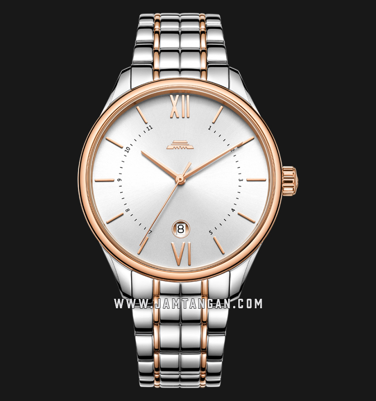 Beijing BG050009 Classic Man Silver Dial Dual Tone Stainless Steel Machtwatch