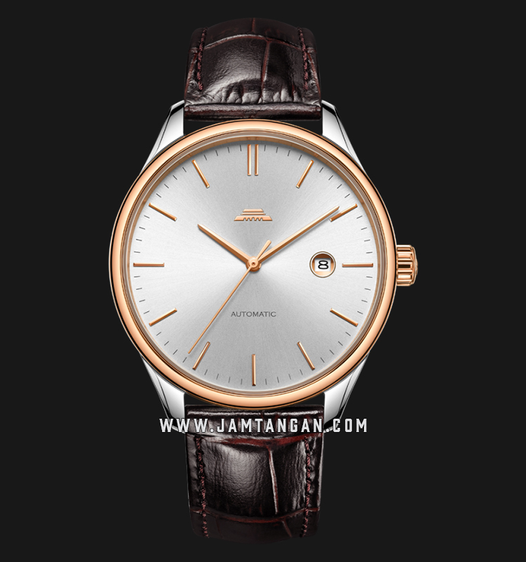 Beijing BG050011 Classic Man Silver Dial Brown Leather Strap Machtwatch