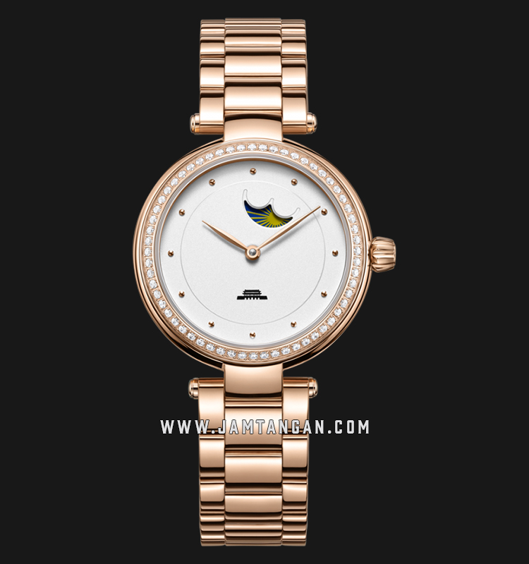 Beijing BL020003 Inspiration Ladies White Dial Rose Gold Stainless Steel Machtwatch