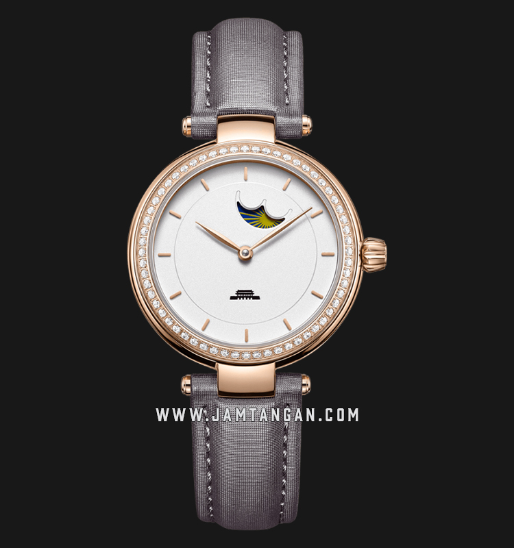 Beijing BL020007 Inspiration Ladies White Dial Grey Leather Strap Machtwatch