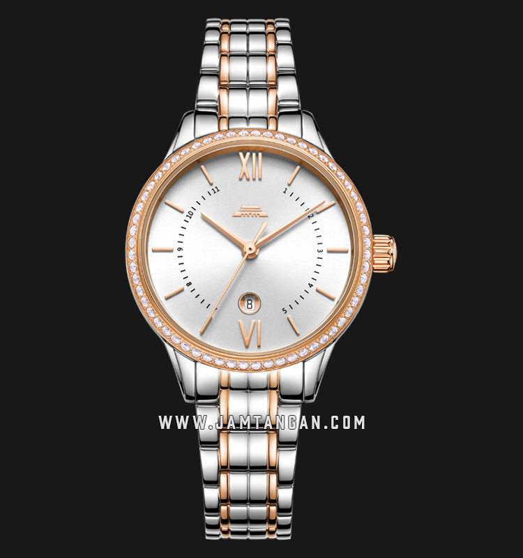 Beijing BL050009 Classic Ladies Silver Dial Dual Tone Stainless Steel Machtwatch