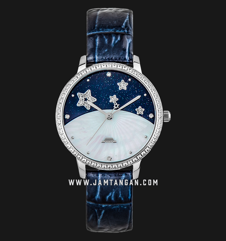 Beijing BL120001 Classic Ladies Mother of Pearl Dial Blue Leather Strap Machtwatch