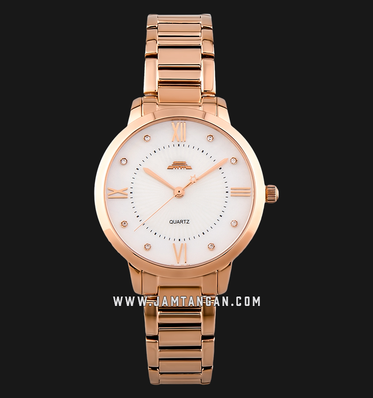 Beijing BL120005 Classic Ladies Mother of Pearl Dial Rose Gold Stainless Steel Machtwatch