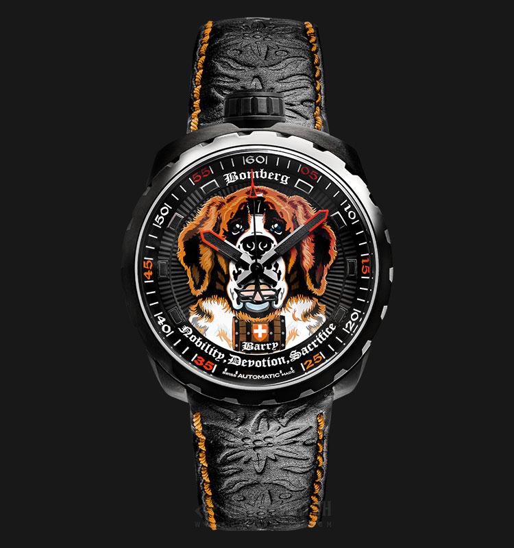 Bomberg Bolt-68 Barry Foundation BS45APBA.044.3 Automatic Multicolor Dial Black Leather Strap Machtwatch