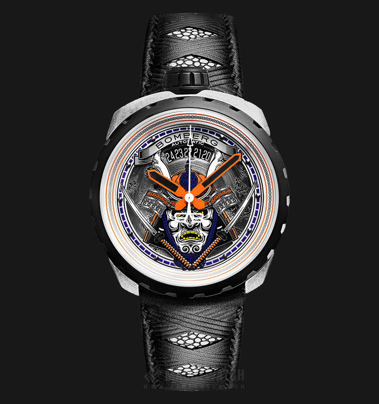 Bomberg Bolt-68 Samurai Vintage BS45ASP.042-1.3 Automatic Multicolor Dial Black Leather Strap Machtwatch