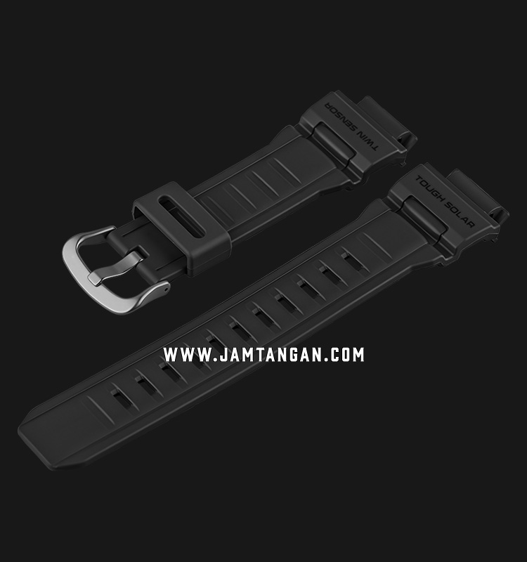 Strap Casio Model G-9300GY-1 16mm Black Resin - P10395466 Machtwatch