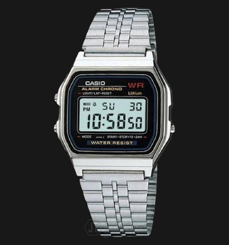 Casio Retro A159WA-N1DF Stainless Steel Digital Watch Machtwatch