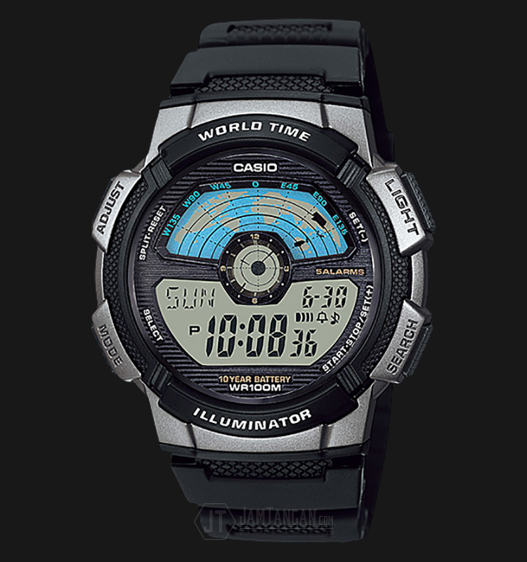 Casio AE-1100W-1AVDF Water Resistant 100M Resin Band Machtwatch