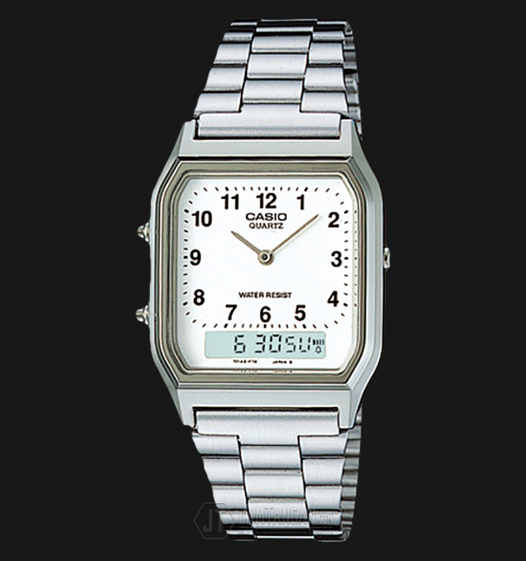 Casio AQ-230A-7BMQ Stainless Steel Watch Machtwatch