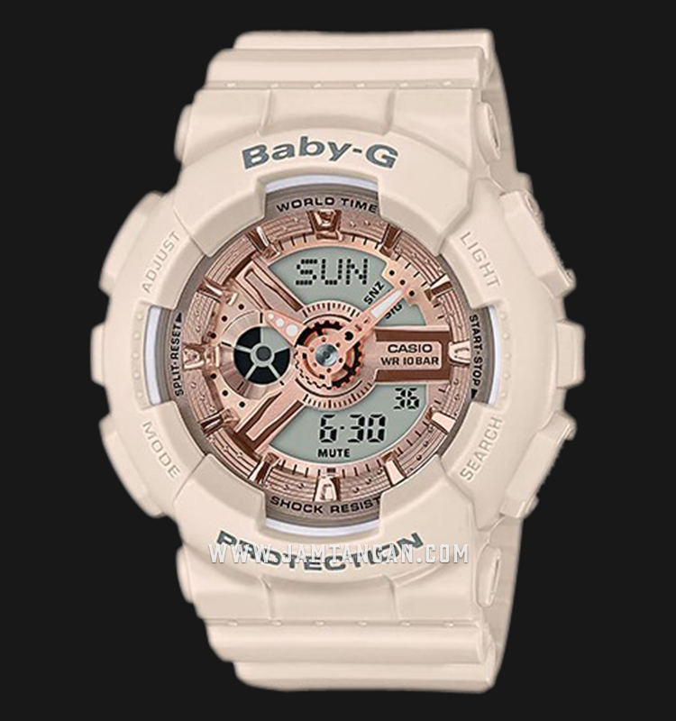 Casio Baby-G BA-110CP-4ADR Special Color Models Light Biege Resin Band Machtwatch