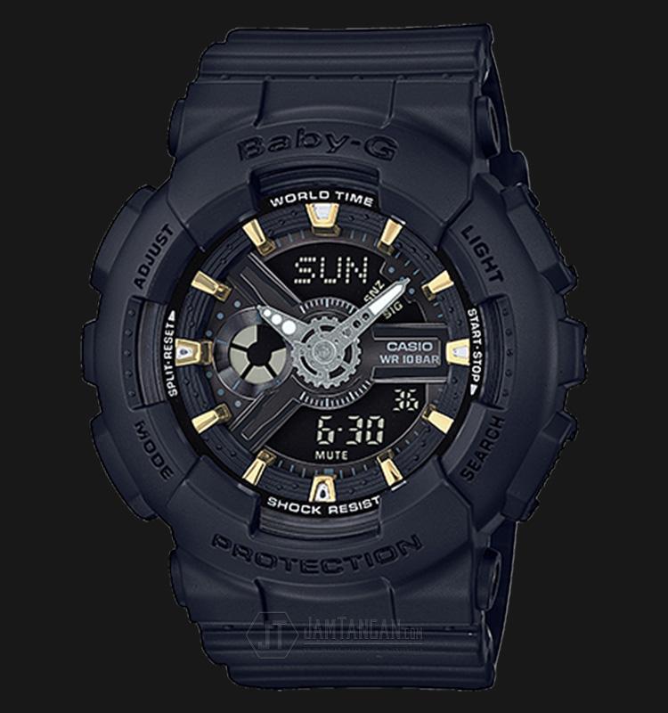 Casio Baby-G BA-110GA-1ADR Water Resistant 100M Resin Band Machtwatch