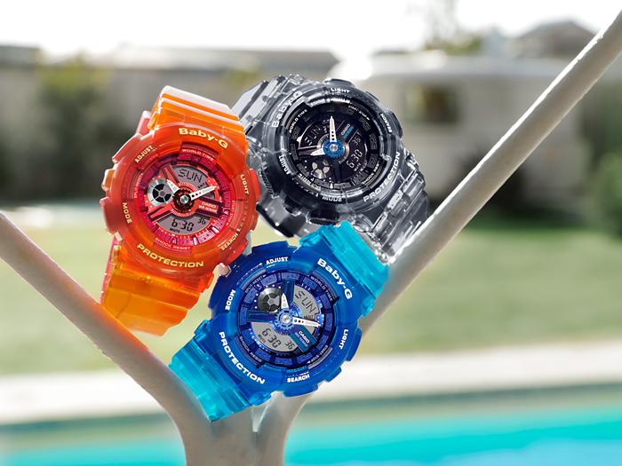 Casio Baby-G BA-110JM-4ADR G-Shock Tandem Series Orange Resin Band Machtwatch