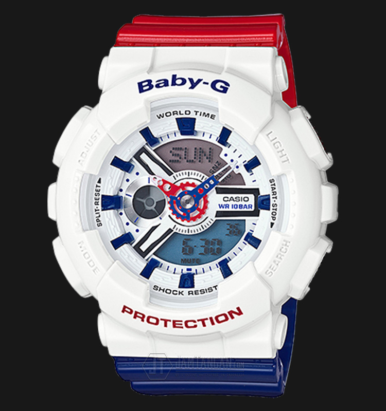 Casio Baby-G BA-110TR-7ADR Water Resistant 100M Resin Band Machtwatch