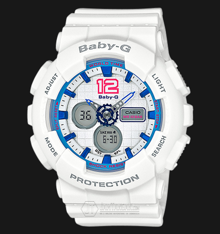 Casio Baby-G BA-120-7BDR Water Resistant 100M Resin Band Machtwatch