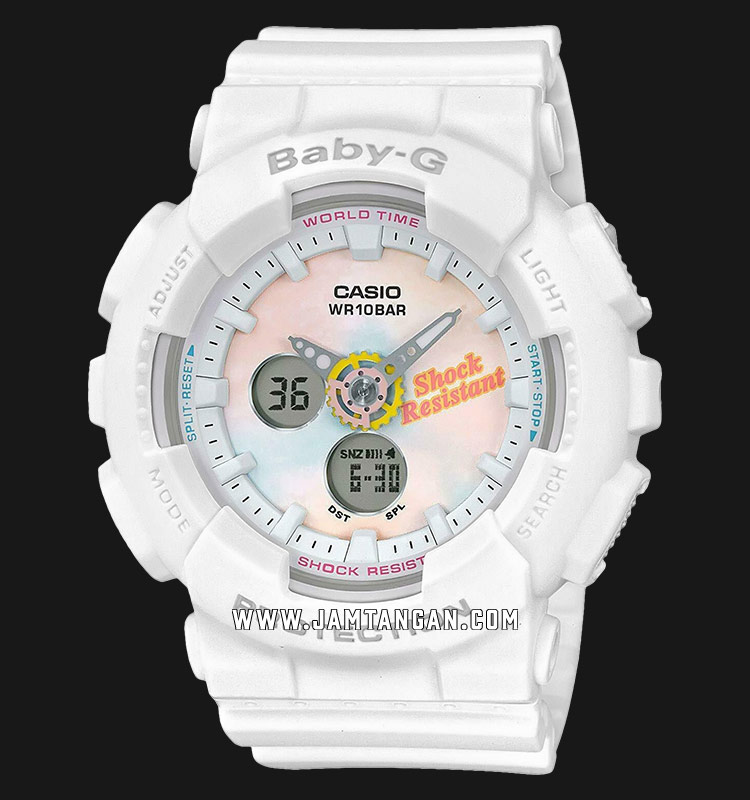 Casio Baby-G BA-120T-7ADR Digital Analog Dial Pink Resin Strap Machtwatch