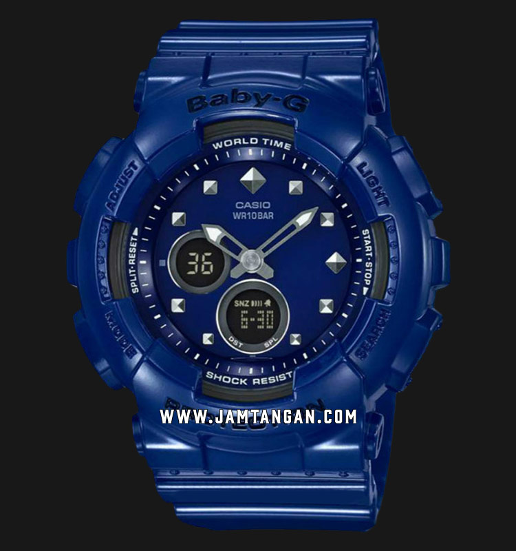 Casio Baby-G BA-125-2ACR Digital Analog Dial Blue Resin Strap Machtwatch