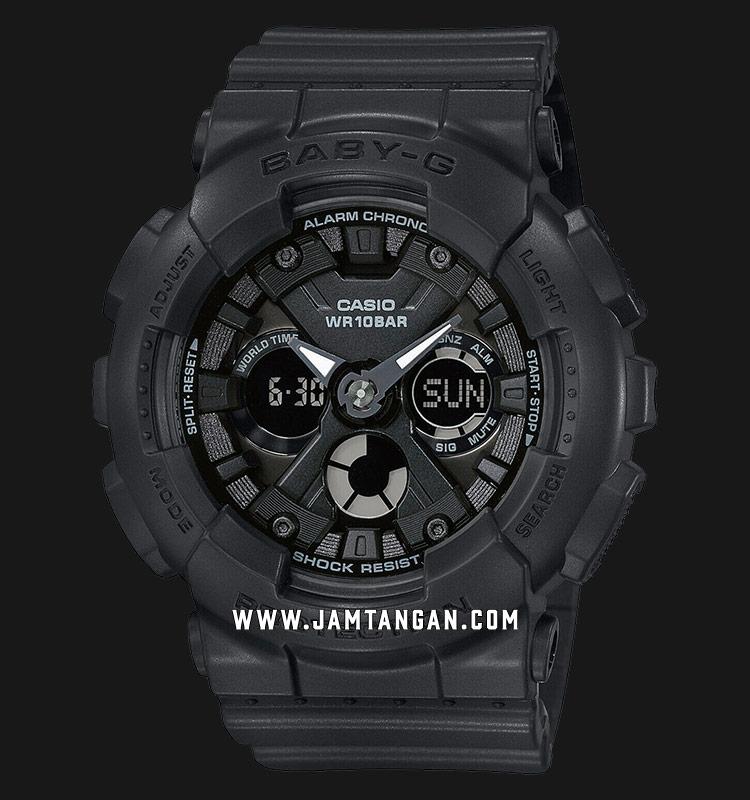 Casio Baby-G BA-130-1ADR Digital Analog Dial Black Resin Strap Machtwatch