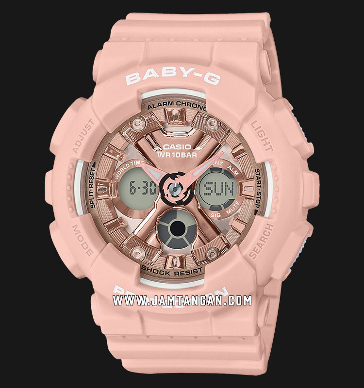 Casio Baby-G BA-130-4ADR Digital Analog Dial Pink Resin Strap Machtwatch