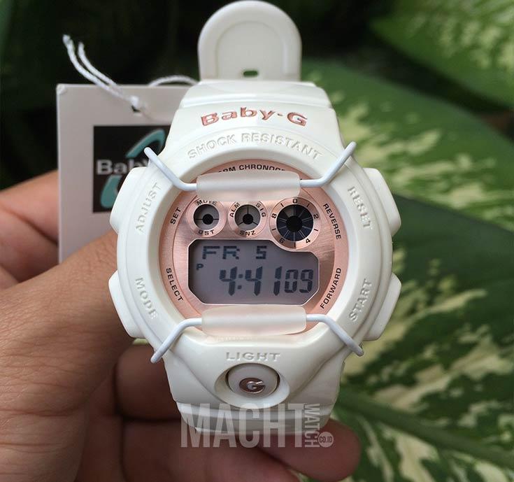 Casio Baby-G BG-1005A-7DR Beige Digital Dial White Resin Strap Machtwatch